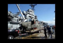 "AH-1 Cobra ""Virginia Rose II"" boards the USS Hornet Carrier Museum"