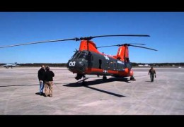 "HH-46E ""Sea Knight"" Ground Run Up at Cherry Point, NC"