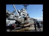 "AH-1 Cobra ""Virginia Rose II"" boards the USS Hornet Carrier Museum"
